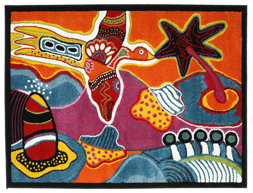Freedom Over Oasis Tapis 125X160 Moderne Rouge/Noir ( Turquie)