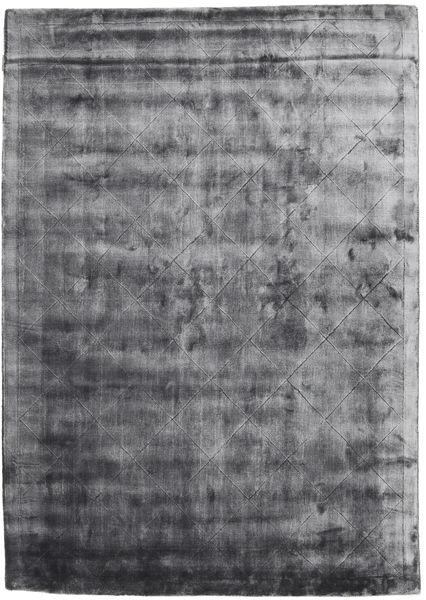 Brooklyn - Stormy Grey Tapis 140X200 Moderne Gris Foncé/Gris Clair ( Inde)