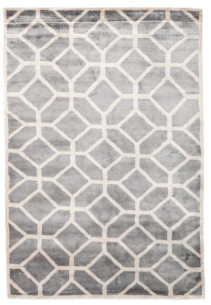 Palace Tapis 170X240 Moderne Fait Main Gris Clair/Blanc/Crème ( Inde)
