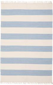 Cotton Stripe - Clair Bleu Tapis 140X200 Moderne Tissé À La Main Beige/Bleu Clair (Coton, Inde)