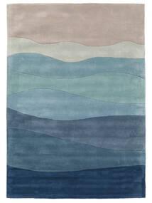 Feeling Handtufted - Bleu Tapis 140X200 Moderne Bleu Foncé/Bleu Clair (Laine, Inde)