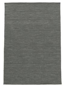 Kilim Loom - Gris Foncé Tapis 140X200 Moderne Tissé À La Main Vert Foncé/Gris Clair (Laine, Inde)