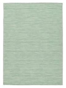 Kilim Loom - Mint Vert Tapis 140X200 Moderne Tissé À La Main Vert Pastel/Bleu Turquoise (Laine, Inde)