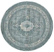 Jacinda - Clair Tapis Ø 200 Moderne Rond Gris Foncé/Bleu ( Turquie)
