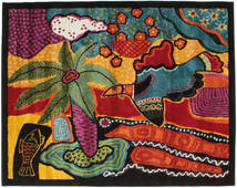 Tomorrow Is Another Day Tapis 120X150 Moderne Noir/Rouge Foncé ( Turquie)