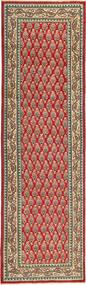 Tabriz Patina Tapis 85X295 D'orient Fait Main Tapis Couloir Rouge Foncé/Marron Clair (Laine, Perse/Iran)