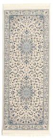 Naïn Emilia - Cream/Clair Bleu Tapis 80X200 D'orient Tapis Couloir Gris Clair/Beige ( Turquie)