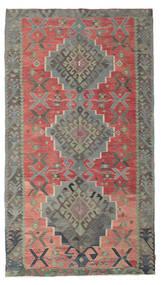 Kilim Semi-Antique Turquie Tapis 180X320 D'orient Tissé À La Main Gris Foncé/Rouille/Rouge (Laine, Turquie)