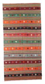 Kilim Semi-Antique Turquie Tapis 160X321 D'orient Tissé À La Main Marron Foncé/Gris Clair (Laine, Turquie)