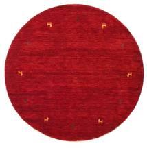 Gabbeh Loom Two Lines - Rouge Tapis Ø 150 Moderne Rond Rouge/Rouge Foncé (Laine, Inde)