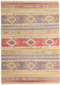Kilim Nimrud Tapis 160X230 Moderne Tissé À La Main Gris Clair/Beige Foncé (Laine, Inde)