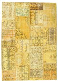 Patchwork Tapis 160X228 Moderne Fait Main Jaune/Vert Olive (Laine, Turquie)