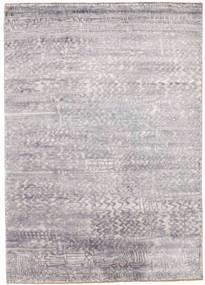 Damask Tapis 175X246 Moderne Fait Main Gris Clair/Beige ( Inde)