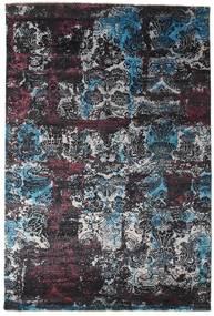 Damask Tapis 203X303 Moderne Fait Main Gris Foncé/Noir ( Inde)