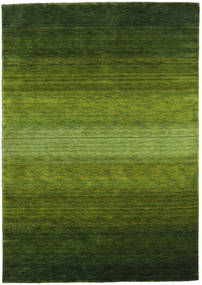 Gabbeh Rainbow - Vert Tapis 160X230 Moderne Vert Foncé/Vert Olive (Laine, Inde)