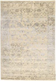 Roma Moderne Collection Tapis 202X297 Moderne Fait Main Gris Clair/Beige ( Inde)