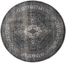 Jacinda - Anthracite Tapis Ø 200 Moderne Rond Gris Foncé/Noir ( Turquie)