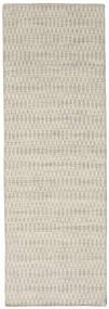 Kilim Long Stitch - Beige Tapis 80X240 Moderne Tissé À La Main Tapis Couloir Beige Foncé/Gris Clair (Laine, Inde)