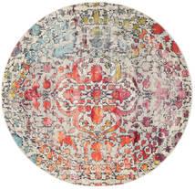 Kaleidoscope - Multi Tapis Ø 200 Moderne Rond Gris Clair/Marron Foncé ( Turquie)