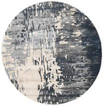 Kaskad - Gris/Cream Tapis Ø 150 Moderne Rond Gris Foncé/Gris Clair ( Turquie)