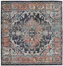 Elnath Tapis 250X250 Moderne Carré Gris Clair/Noir Grand ( Turquie)