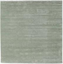 Handloom Fringes - Soft Teal Tapis 250X250 Moderne Carré Vert Clair Grand (Laine, Inde)