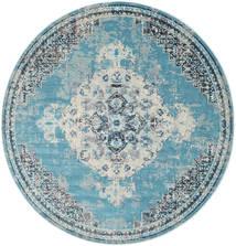 Turid - Bleu Tapis Ø 200 Moderne Rond Bleu Clair/Gris Clair ( Turquie)