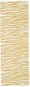 Tapis D'extérieur Zebra - Jaune Moutarde Tapis 70X280 Moderne Tapis Couloir Beige Foncé/Blanc/Crème ( Suède)