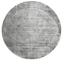 Broadway - Misty Grey Tapis Ø 200 Moderne Rond Gris Clair/Gris Foncé ( Inde)