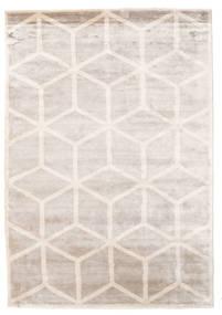 Facets Tapis 170X240 Moderne Fait Main Gris Clair/Blanc/Crème ( Inde)