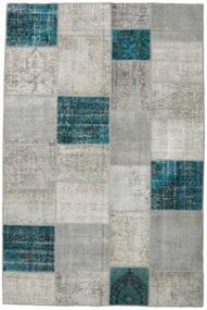Patchwork Tapis 200X302 Moderne Fait Main Gris Clair/Turquoise Foncé (Laine, Turquie)