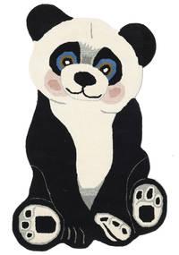 Panda Baby Tapis 100X160 Moderne Gris Foncé/Beige (Laine, Inde)