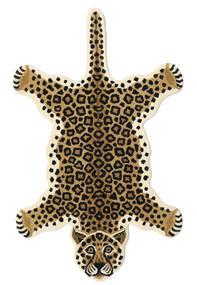 Leopard - Beige Tapis 100X160 Moderne Noir/Marron Clair/Beige (Laine, Inde)