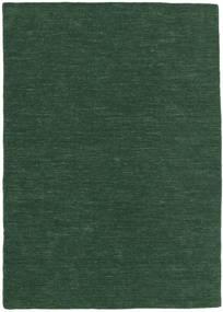 Kilim Loom - Vert Forêt Tapis 160X230 Moderne Tissé À La Main Vert Foncé (Laine, Inde)