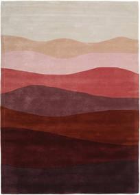 Feeling Handtufted - Wine Tapis 140X200 Moderne Rouge Foncé/Gris Clair (Laine, Inde)