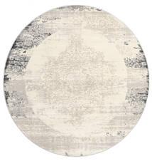 Alaska - Clair Gris/Cream Tapis Ø 200 Moderne Rond Beige/Gris Clair ( Turquie)