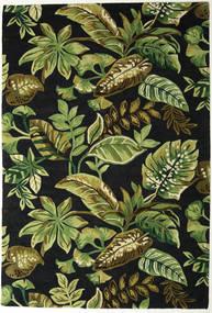 Jungel - Vert/Noir Tapis 200X300 Moderne Vert Foncé/Vert Olive (Laine, Inde)