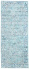 Maharani - Bleu Tapis 80X200 Moderne Tapis Couloir Bleu Clair/Bleu Turquoise ( Turquie)
