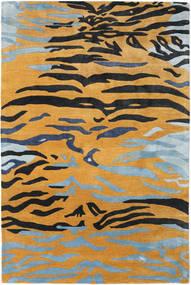 Love Tiger - Orange/Gris Tapis 200X300 Moderne Marron Clair/Noir ( Inde)