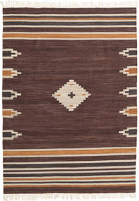 Tribal - Marron Tapis 160X230 Moderne Tissé À La Main Marron Foncé/Rouge Foncé (Laine, Inde)
