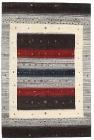 Gabbeh Loribaft Tapis 136X206 Moderne Fait Main Marron Foncé/Gris Clair (Laine, Inde)