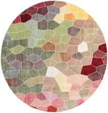 Play Of Colours Tapis Ø 200 Moderne Rond Beige Foncé/Gris Clair ( Turquie)