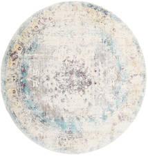 Octavia - Bleu Tapis Ø 200 Moderne Rond Gris Clair/Beige ( Turquie)