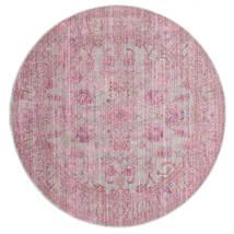 Maharani - Gris/Rose Tapis Ø 200 Moderne Rond Rose Clair ( Turquie)
