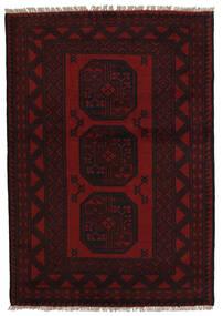 Afghan Tapis 94X141 D'orient Fait Main Rouge Foncé (Laine, Afghanistan)