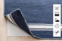 Anti Slip, Non-Woven Tapis 130X190 Moderne Bleu/Gris Clair ( Belgique)