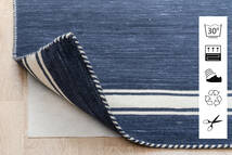 Anti Slip, Non-Woven Tapis 240X340 Moderne Bleu/Gris Clair ( Belgique)