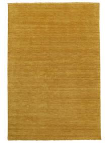 Handloom Fringes - Jaune Tapis 160X230 Moderne Jaune/Marron Clair (Laine, Inde)