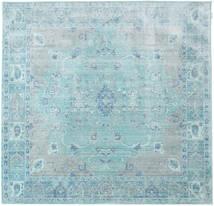 Maharani - Bleu Tapis 200X200 Moderne Carré Bleu Clair/Bleu Turquoise ( Turquie)