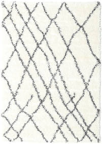 Shaggy Tangier - Blanc/Gris Foncé Tapis 140X200 Moderne Beige/Gris Clair ( Turquie)